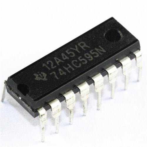 5 PCS IC 74HC595 74595 SN74HC595N 8-Bit Shift Register DIP-16 NEW