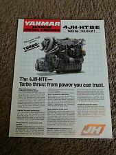 Yanmar Marine Diesel Engine 4JH-HTE 4JH-HTBE Dealer Sales Brochure Specification