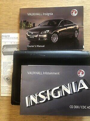 GENUINE VAUXHALL INSIGNIA OWNERS MANUAL HANDBOOK  2008–2013 PACK L-203