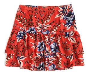 Nwt Blumenmuster Abgestuft Ann s Loft Tropisch Rot 4 Damen Taylor wx1Oq4