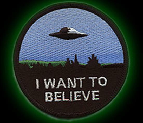 X-Files I Want To Believe embroidered cloth PATCH!