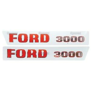 Ford 4100 Tractor Basic Hood Decal Set Emblem Kit
