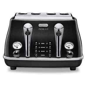 Delonghi-CTOM4003-4-Slice-Toaster-Micalite-Black