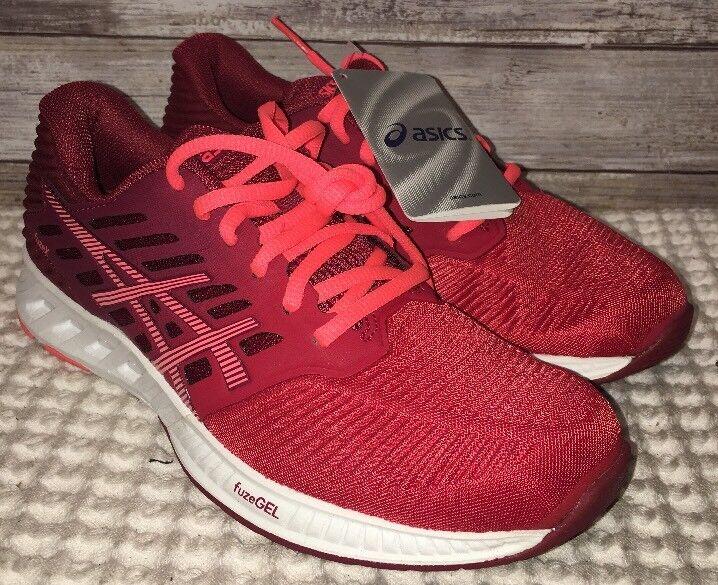 Asics FuzeX Damenschuhe OT ROT/Flash Coral/True ROT Athletic Sneakers Sz 6 T689N-2306