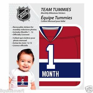NEW-BABY-TEAM-TUMMIES-MONTREAL-CANADIENS-HOCKEY-NHL-MONTLY-TSHIRT-STICKER-DECAL