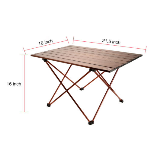S//M//L Camping Aluminum Folding Table Camping Party Picnic BBQ Stall Garden Table