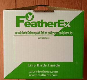 Package of 3 - 12 x 12 FeatherEx boxes : Live Bird shipping boxes