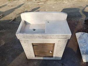 Vasca Lavatoio Da Esterno.Lavello Lavandino Lavabo Lavatoio Vasca Da Giardino In Cemento Marmo E Pietra Ebay