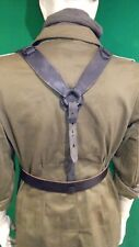 WW2 Germany M39 Black Leather Y Straps--WH--REPRO--
