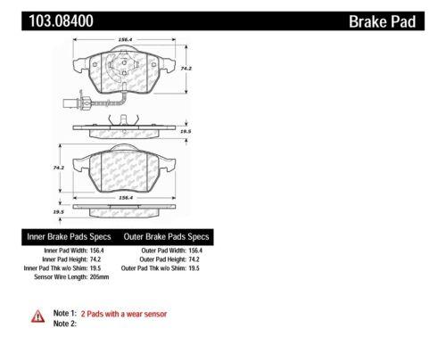 Disc Brake Pad Set-C-TEK Ceramic Brake Pads Front Centric 103.08400