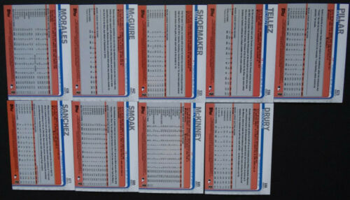 2019 Topps serie 2 Toronto Blue Jays Equipo Conjunto de 9 tarjetas de béisbol Rowdy Tellez