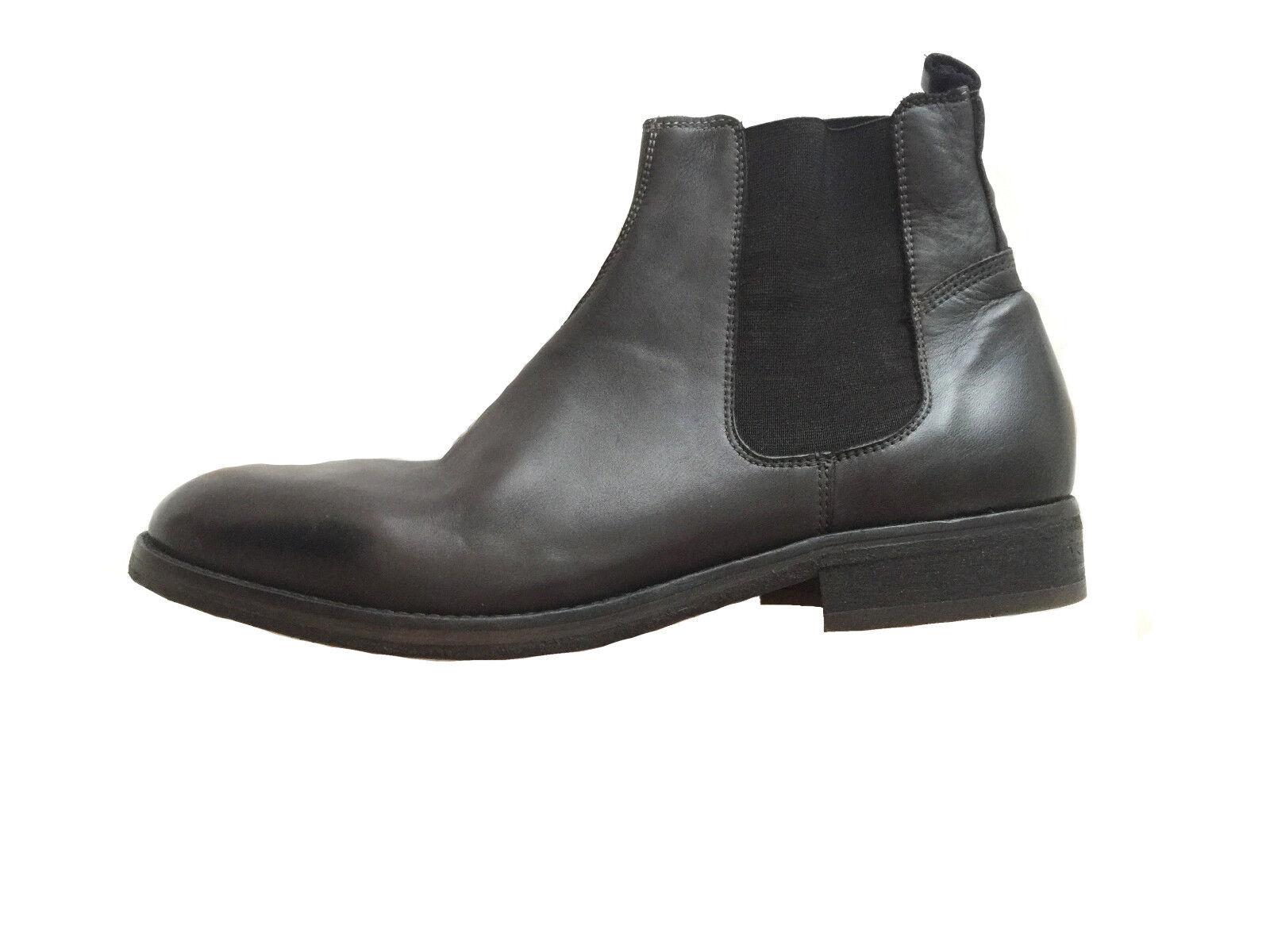 NEU Herren Schuhe Hudson London Chelseaboots Gr.45 schwarz echtes Leder