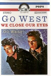 Go West .We Close Our Eyes. Import Cassette Tape