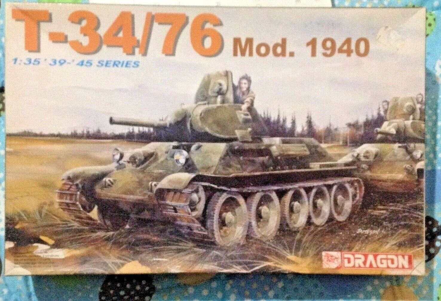 DRAGON 6092 135 T3476 MOD.1940 VERY RARENO TAMIYA TASCA BRONCO RESIN KIT AFV