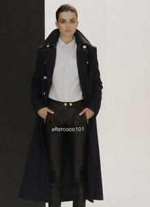 Pierre-Balmain-Runway-Navy-Wool-Long-Coat-IT40-UK8-10-NEW-Blazer-Jacket