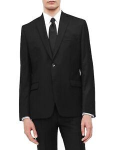 Calvin Klein Mens Suit Separate Black Size 38 Long Slim Fit Blazer $350 #026