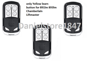 LiftMaster Garage Door Opener Key Chain Remote Transmitter Yellow Learn Button 3