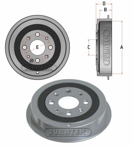 JURATEK REAR BRAKE DRUM FOR FIAT GRANDE PUNTO 1.2 1242CCM 65HP 48KW PETROL