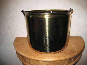 NEW-Chaudron-a-buches-cuivre-jaune-H-32cm-D-38cm-Copper-cauldron