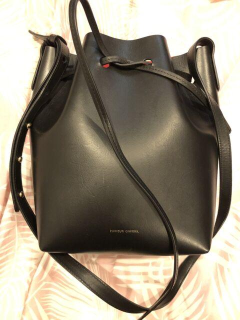 Mansur Gavriel Bucket Bag Black Vegetable Tanned Leather