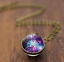 Solar-System-Pendants-Necklace-Galaxy-Planet-Necklace-S-Double-Sided-Glass-Dome thumbnail 11