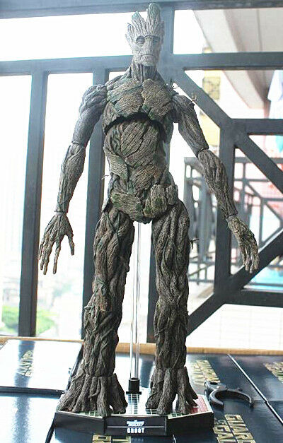 Hot Toys GROOT Guardians of the Galaxy Groot 1/6 Scale PVC 38cm 15  NEW