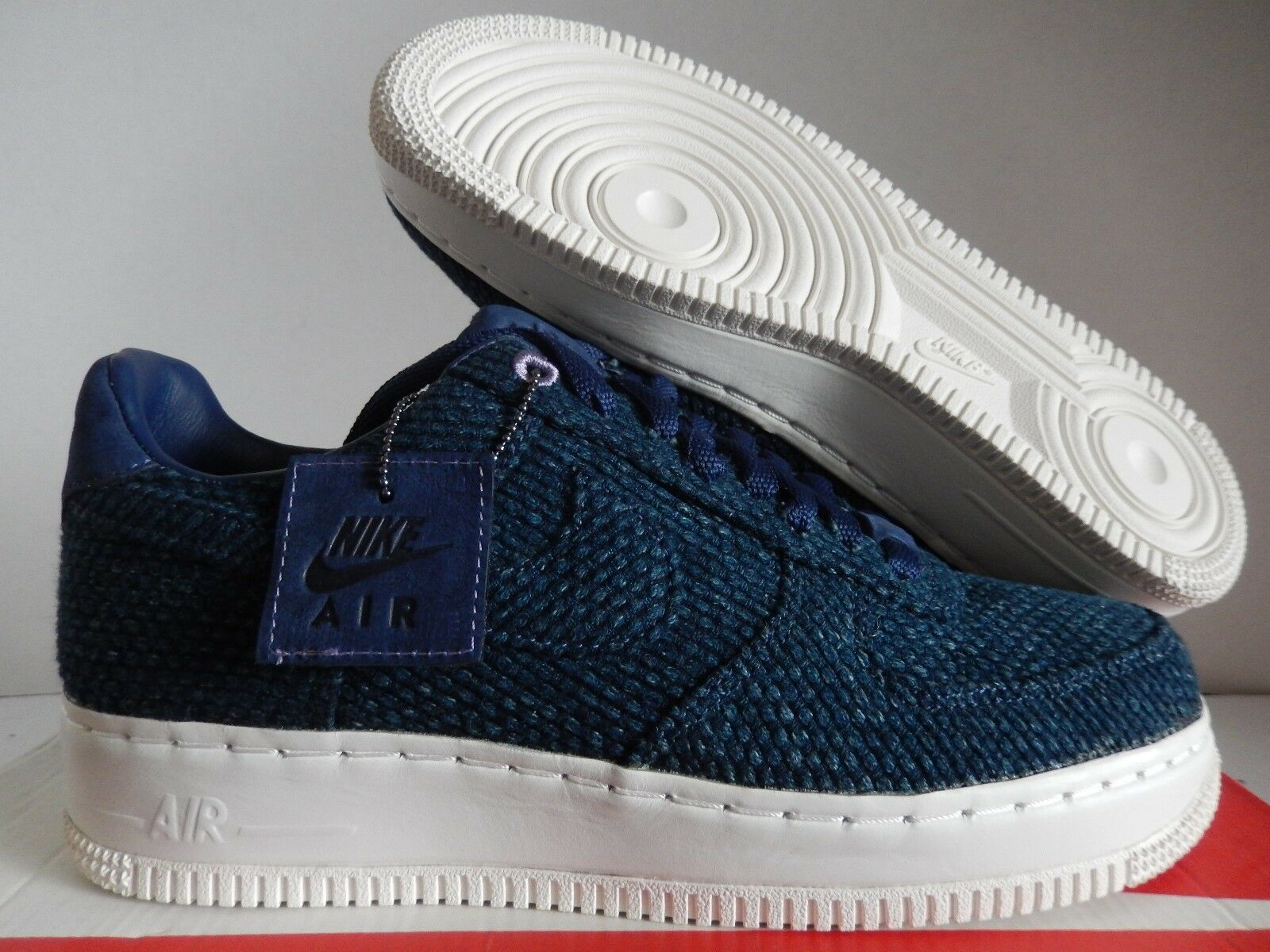 NIKE AIR FORCE 1 LOW AIZOME SASHIKO JAPAN NAVY BLUE SZ 9 RARE!! [AR4670-444]
