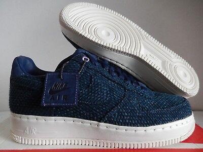 Nike Air Force 1 Low AF-1 Aizome Sashiko Japan AR4670-444 Navy Denim Mens Shoes