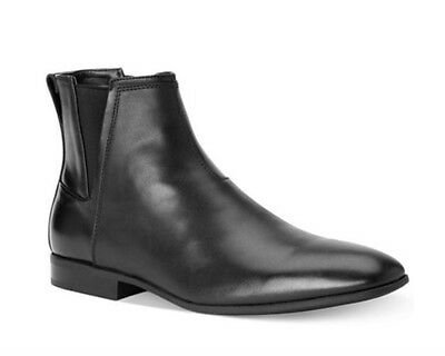 Calvin Klein Carlisle Men's Smooth Leather Black Ankle Boots