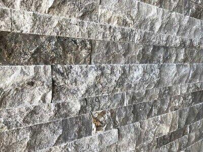 Temperamentvoll Wandverkleidung Wandverblender Steinwand Travertin Silver 3d Wohnrausch 1m² Weitere Rabatte üBerraschungen Baustoffe & Holz Klinker