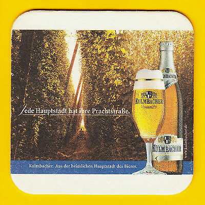 GERMANY KULMBACHER MONCHSHOF Beer Coaster Mat Kulmbach
