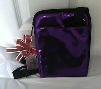 Brand Rolfs Purple E Reader Case Faux Leather Zip Closure Cross Body Bag