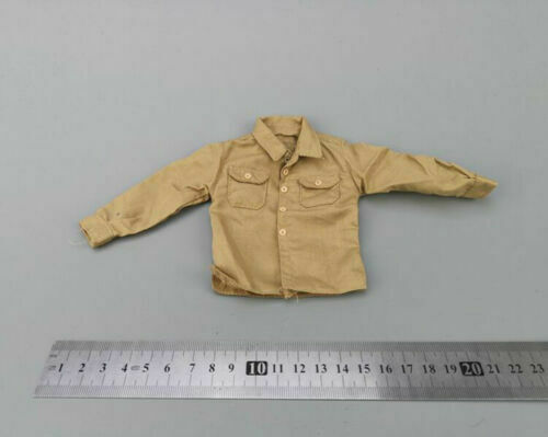 """Dragon 1//6 Scale Sand Long Sleeve Shirt Model for 12/"""" Male Body Action Figure"""