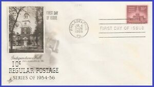 US-1044-U-A-ARTCRAFT-FDC-Independence-Hall