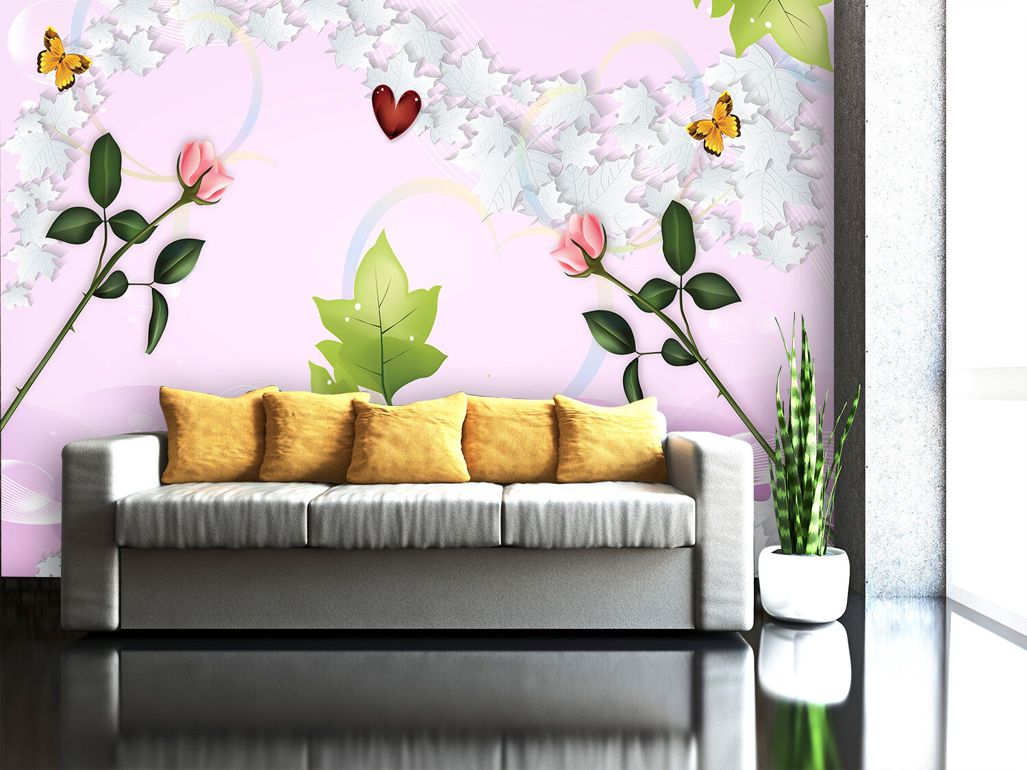 3D Simple Flower 6 Paper Wall Print Decal Wall Wall Murals AJ WALLPAPER GB