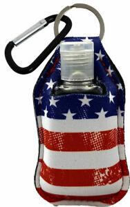 Americana American Flag Keyring (Key Chain) Key Fob Sanitizer Holder