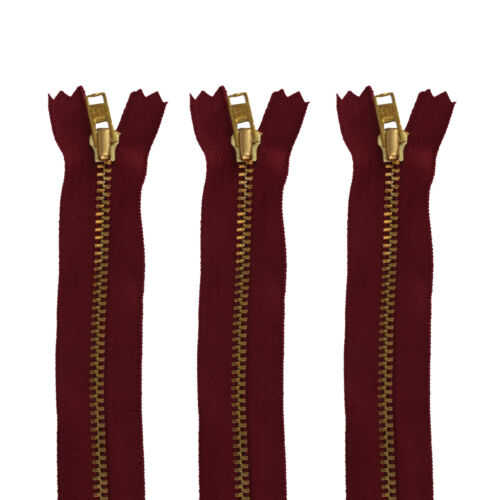 4.5 Inches Zip Zipper Close End Wine YKK Heavy Duty Metal for DIY Jeans Trousers