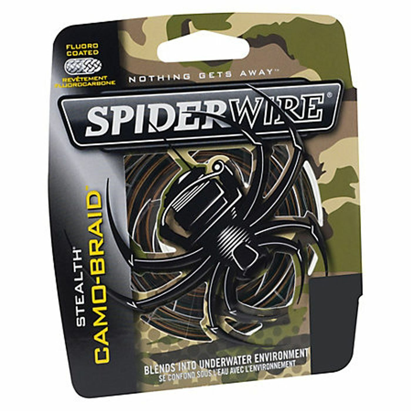 Spiderwire Stealth Camo Braided Line 300yd 15lb,20lb,30lb,50lb Coarse Carp Pike