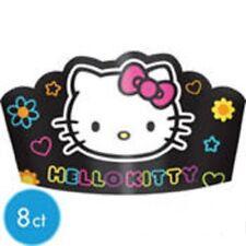 Hello Kitty Neon Birthday Party Tiaras 8ct