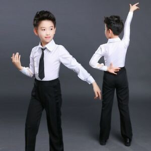 4d23347a6de6 Image is loading Boys-Kids-Dance-Pants-Trousers-Ballroom-Modern-Samba-