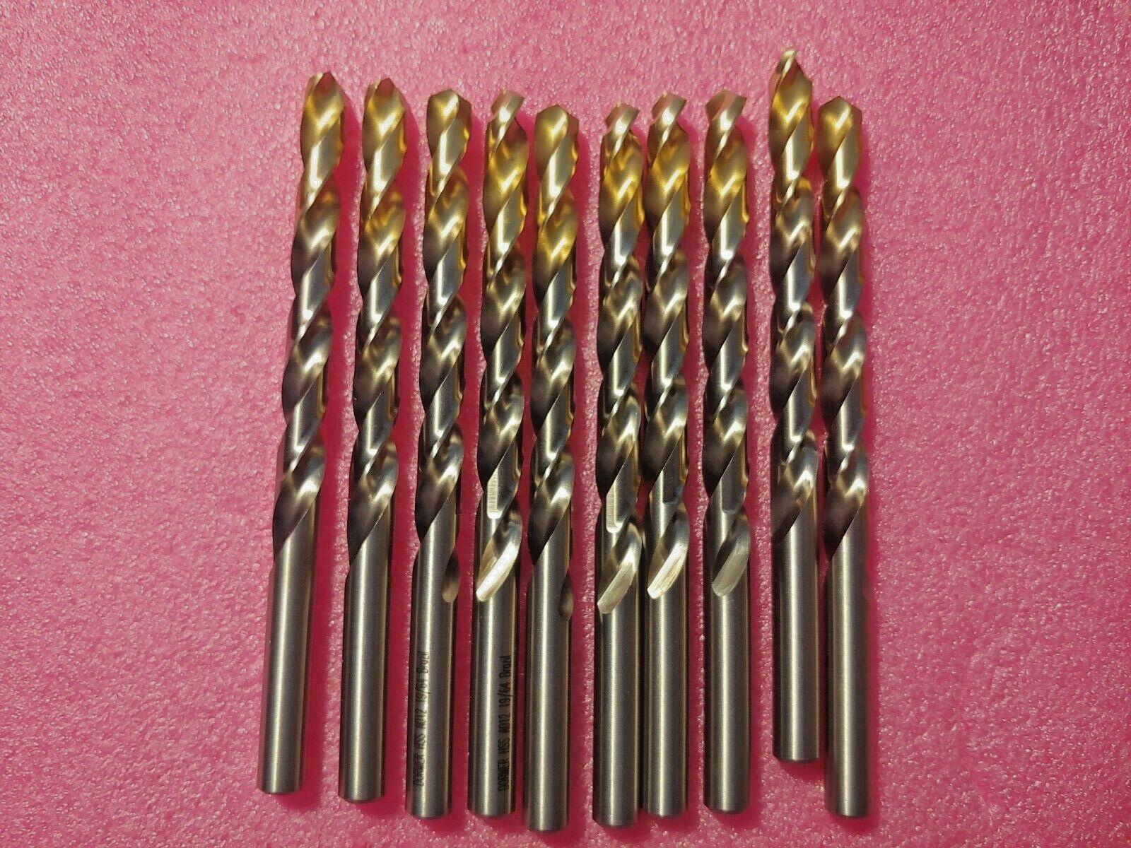 TiN COATED JOBBER DRILL BIT HSS M2 A002 19//64 DORMER  141 7.54mm 3 x 19//64