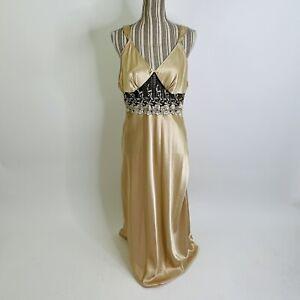 vintage val mode lingerie satin golden honey floral lace