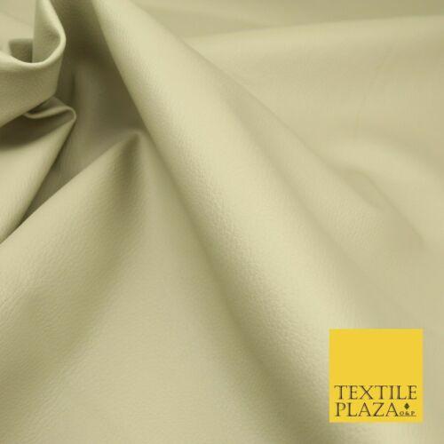 BEIGE Luxury Faux Leather Fabric Felt Backed PVC Fire Retardant Upholstery 1722