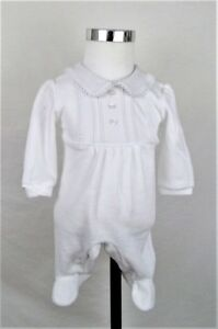 Baby Boy Clothes Spanish Romany Style All In One White Velour