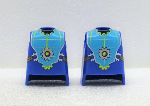 2 x Body Medium Blue Print Playmobil to Novelmore Knight vs.Burnham KP02