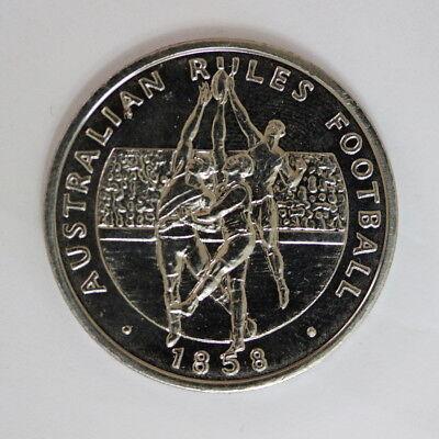 Australian Rules Football 1858 Australia 200 Years A Bicentennial Medal UNC E2