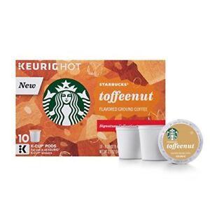 Starbucks Toffeenut Keurig Pods Coffee 10 Single Serve K-Cups 2-Pk BSB MAR 2021