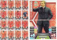 13/14 TEAM BASE SETS MATCH ATTAX 2013 2014 ALL 16 BASE CARDS + MANAGER 17
