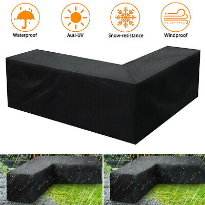 Gartenmöbel Abdeckung Schutzhülle L-Form Abdeckplane Regenschutz Sitzgruppe DE