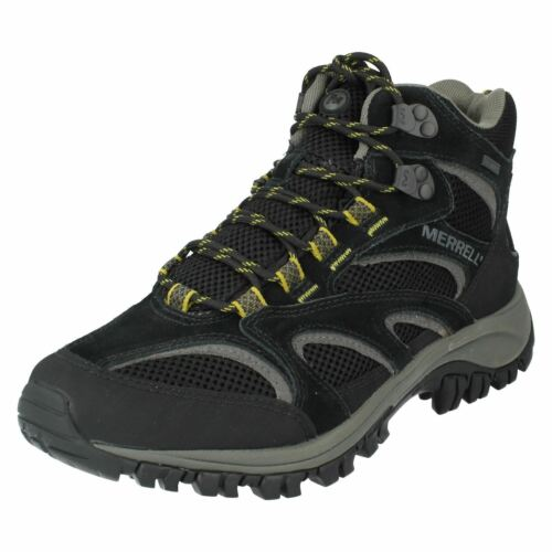 Mens Boots Mid Phoenix 99 £79 Black By Merrell Waterproof wH6zqwvR